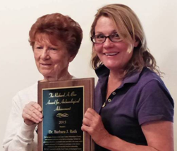 A B 1 Bice Award Recipients Judy Welch and Barb Roth