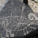 3 Rivers Petroglyph Site NM - bighorn  3 arrows - photo by M.Smith