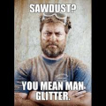Man glitter