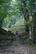 64 - Yaxchilan approach thru jungle from river